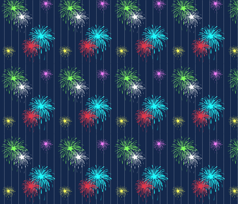 fireworks fabric by writefullysew on Spoonflower - custom fabric