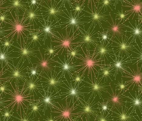 Green Sparklers fabric by meduzy on Spoonflower - custom fabric
