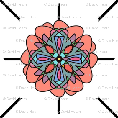 Kaleidoscope Flower (White)