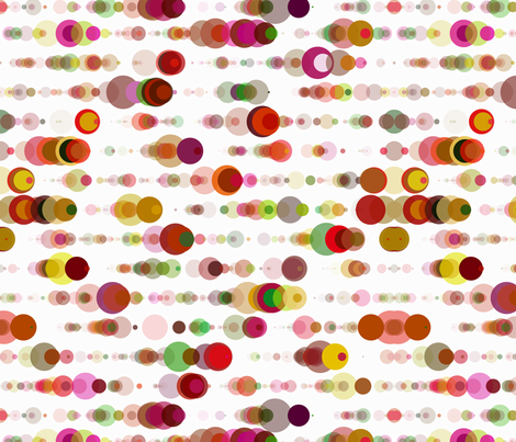 tulip field bubble rain fabric by sol on Spoonflower - custom fabric