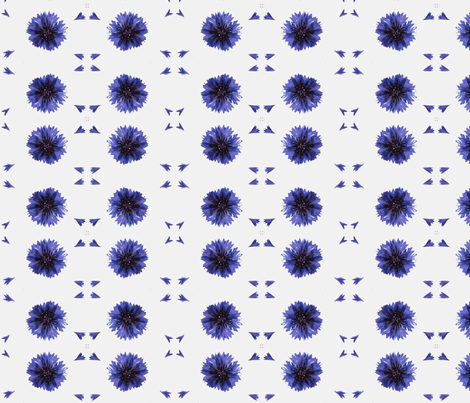 Cornflower petals fabric by miss_blümchen on Spoonflower - custom fabric
