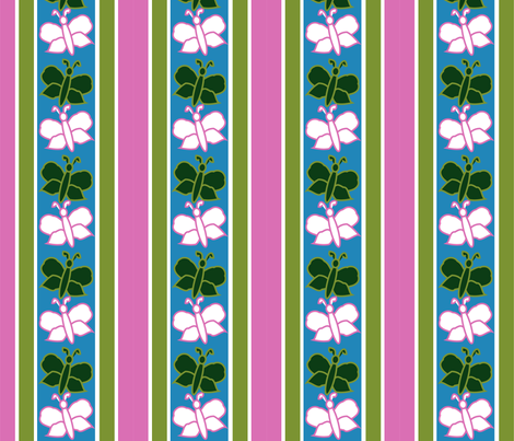 flutterbys fabric by maria_b on Spoonflower - custom fabric