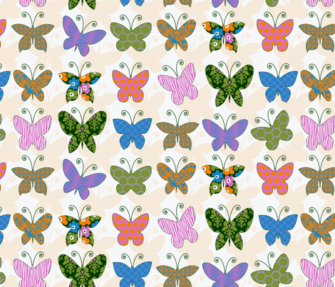 flutterby fabric by littlerhodydesign on Spoonflower - custom fabric