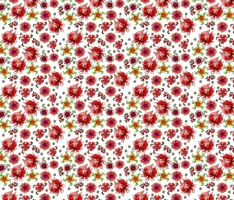 fleur_de_bohème_S fabric by nadja_petremand on Spoonflower - custom fabric