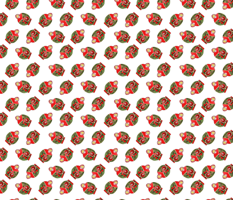 poupée_russe_dance_rouge_S fabric by nadja_petremand on Spoonflower - custom fabric