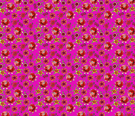 fleur_de_bohème__pink_S fabric by nadja_petremand on Spoonflower - custom fabric