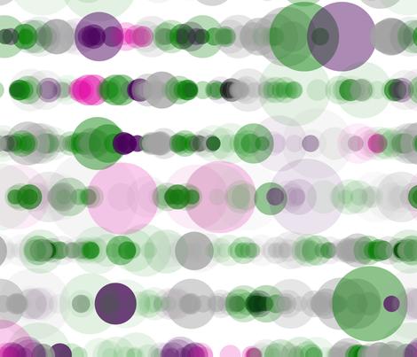 Wisteria Fern bubble rain fabric by sol on Spoonflower - custom fabric