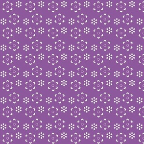 Court & Spark - Scandi Floral Cutout White on Purple