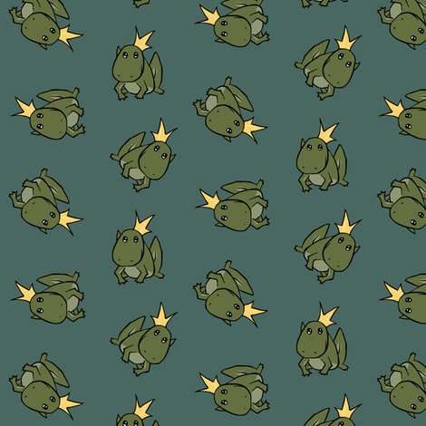 Frog Prince II fabric by pond_ripple on Spoonflower - custom fabric