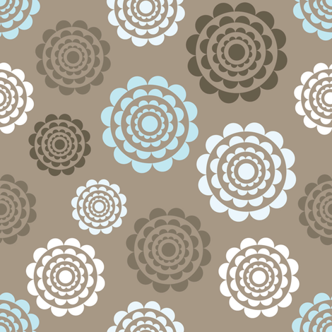 Bed of roses 1 fabric by martinaness on Spoonflower - custom fabric