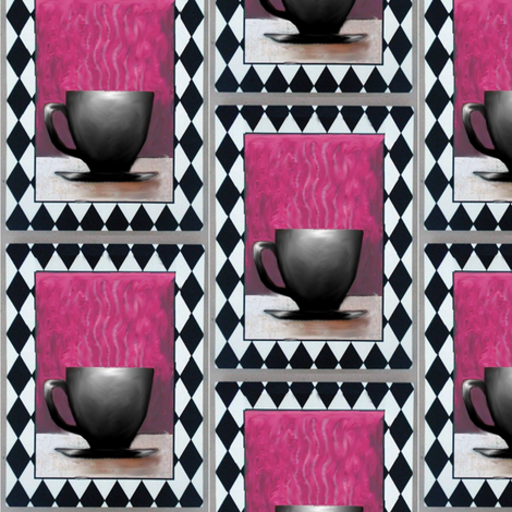 coffeecup pink fabric by vinkeli on Spoonflower - custom fabric