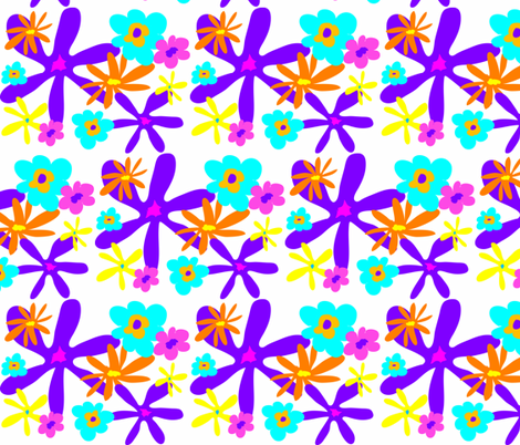 SUMMER BOUQUET 2 fabric by garwooddesigns on Spoonflower - custom fabric