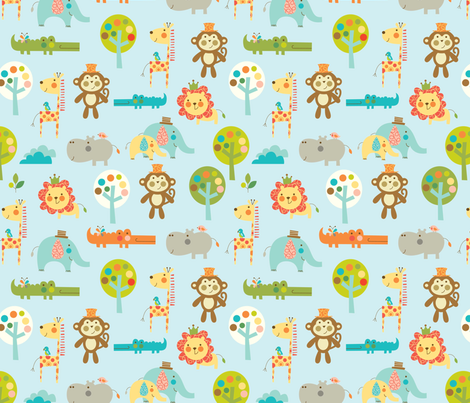 mini jungle love fabric by amel24 on Spoonflower - custom fabric