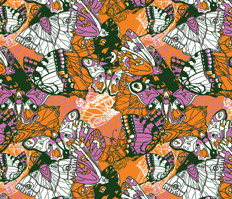 Butterflies & Moths fabric by vdyej on Spoonflower - custom fabric