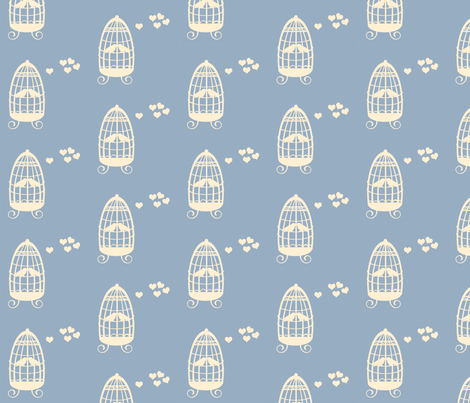 Love Birds fabric by anikabee on Spoonflower - custom fabric