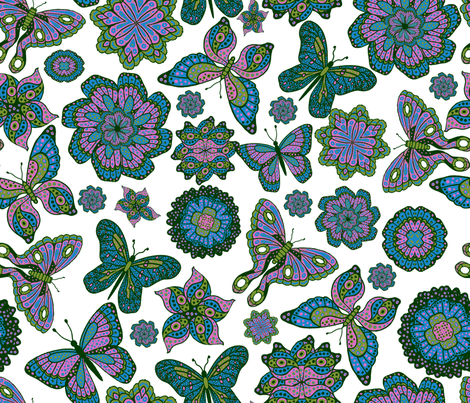 June_s_Butterflies fabric by lisa_binion on Spoonflower - custom fabric