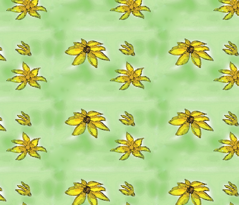 GoldenFlowers fabric by kkitwana on Spoonflower - custom fabric