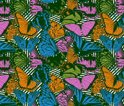 Chaos & Butterflies fabric by leighr on Spoonflower - custom fabric