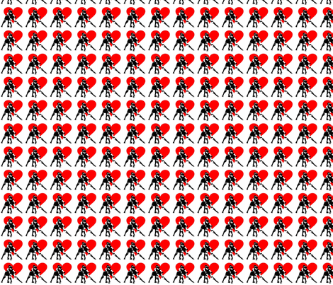 Derby love fabric by carmen_attcha on Spoonflower - custom fabric