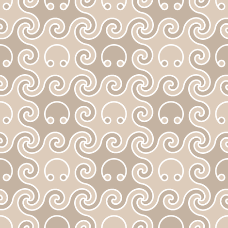 octopod 2-colour squares fabric by sef on Spoonflower - custom fabric