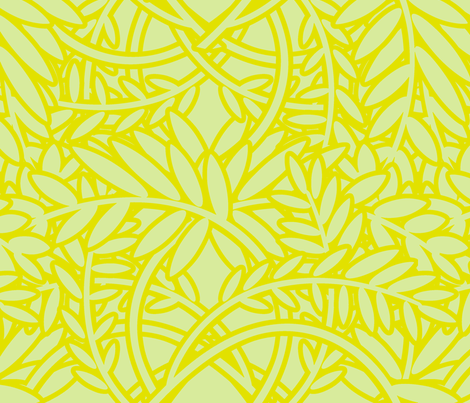 FERN - Lime fabric by lovedove on Spoonflower - custom fabric
