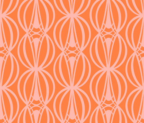 HOURGLASS - Tangerine fabric by lovedove on Spoonflower - custom fabric