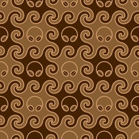 the cephalopod with the coffee-bean eyes fabric by sef on Spoonflower - custom fabric