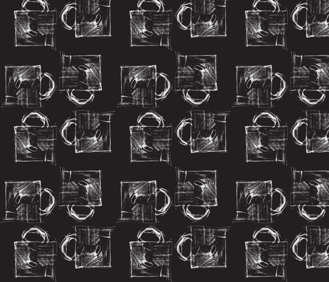 Mugs on a Chalkboard fabric by melissaclemmer on Spoonflower - custom fabric