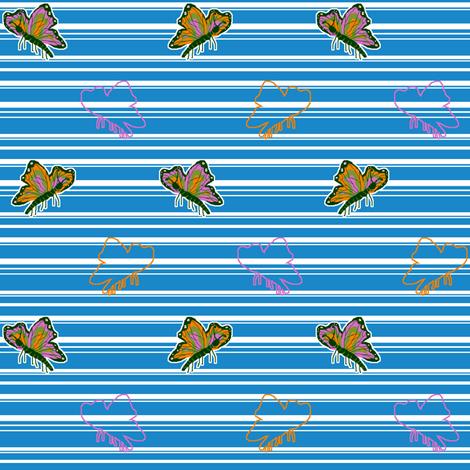 Bright Butterflies (please zoom in) fabric by mikka on Spoonflower - custom fabric