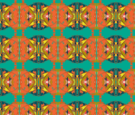 Summer under Mimosa Trees fabric by susaninparis on Spoonflower - custom fabric