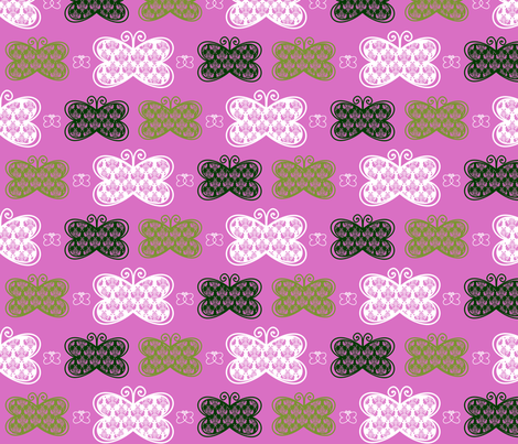 Lacey Butterflies fabric by mayabella on Spoonflower - custom fabric
