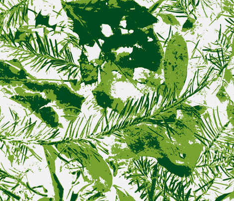 Snow on the Leaves fabric by kdrorvig on Spoonflower - custom fabric