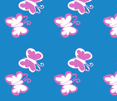 flutterby fabric by country_chic' on Spoonflower - custom fabric