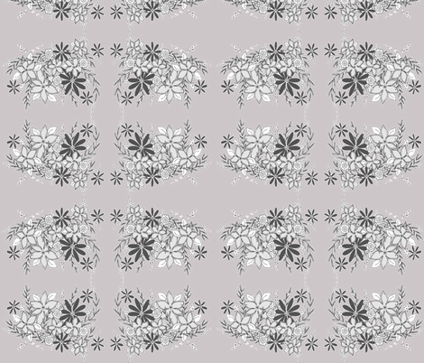 MISTY MORNING BOUQUET fabric by garwooddesigns on Spoonflower - custom fabric