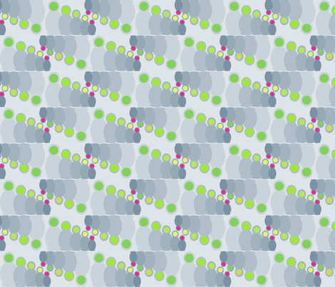 Grey matryoska fabric by littlemacaroon on Spoonflower - custom fabric