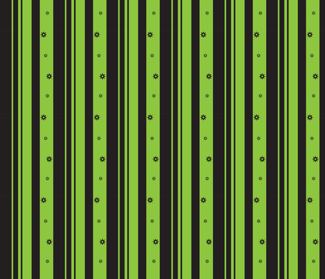 Green & Black Stripes & Stars fabric by pantsmonkey on Spoonflower - custom fabric