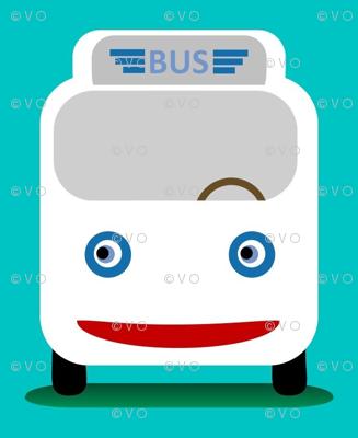 Teal bus!