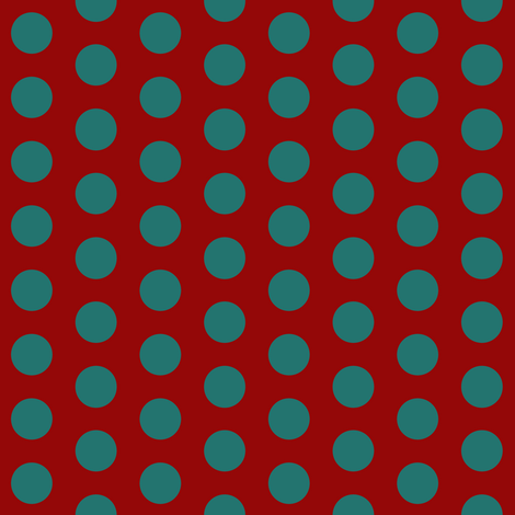 Polka Dot: Red and Teal fabric by pond_ripple on Spoonflower - custom fabric