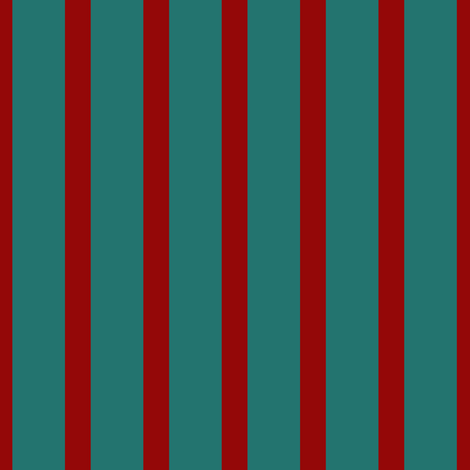Stripe: Red and Teal