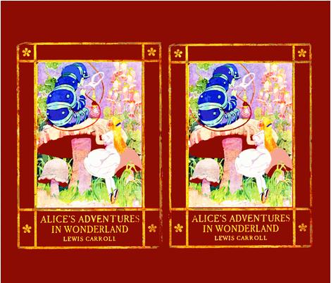 Jessie's Alice in Wonderland fabric by karenharveycox on Spoonflower - custom fabric