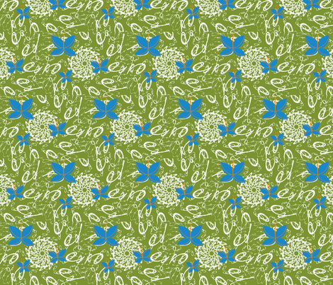 Butterfly Paisley fabric by lenjohnson on Spoonflower - custom fabric