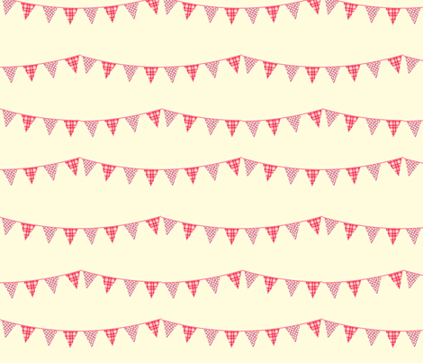 Bunting Flags fabric by anikabee on Spoonflower - custom fabric