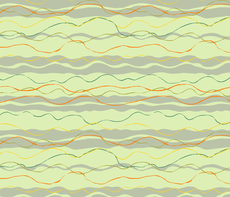 Fishing flow fabric by woodle_doo on Spoonflower - custom fabric