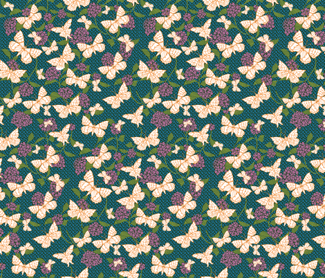 Butterfly Garden fabric by kezia on Spoonflower - custom fabric
