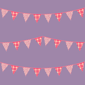 Bunting in purple