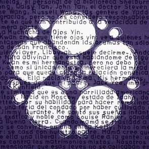 text flower