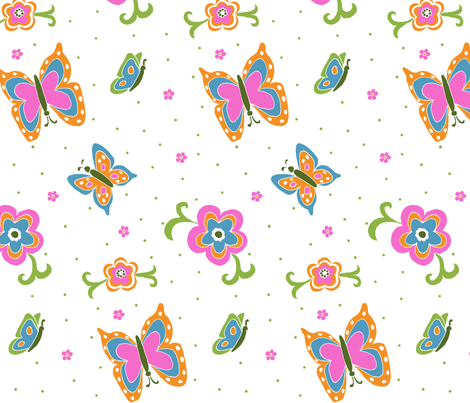 Butterfly_daze fabric by hgf71 on Spoonflower - custom fabric