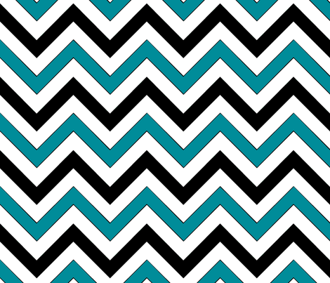 Blue Chevron fabric by pond_ripple on Spoonflower - custom fabric