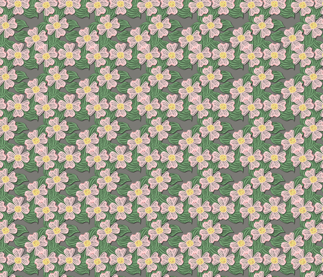 ©2011 dogwood pink fabric by glimmericks on Spoonflower - custom fabric