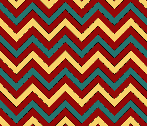 Monster Chevron fabric by pond_ripple on Spoonflower - custom fabric
